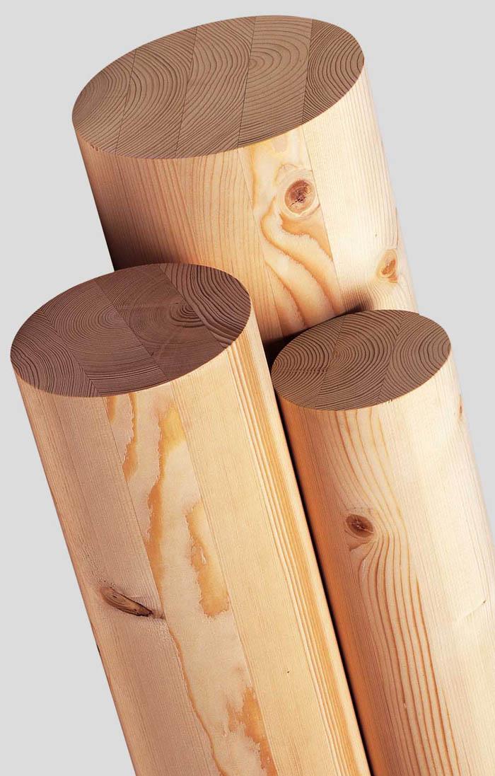 Fournisseur en Poteaux ronds en bois lamellé collé pour toute la France