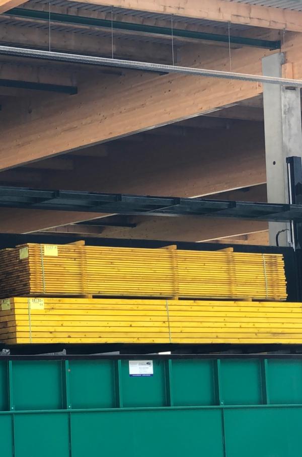 Colisage du bois de charpente traditionnelle frais par l'Agence Boinet