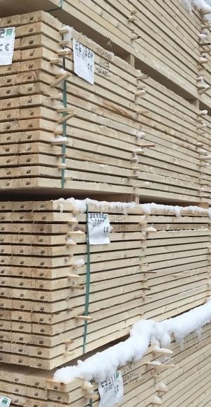 Bois de fermette en stock prêt pour livraison en épicéa ou sapin avec l'Agence Boinet