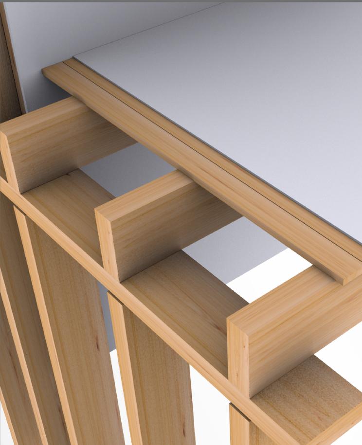 EBL : éléments bois lamellé collé pour cloisons, plafonds, et toitures - Agence Boinet