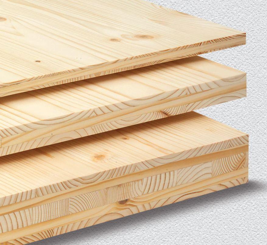 Exemples de Panneaux bois 3 et 5 plis DOLD en différentes épaisseurs : Agence Boinet