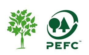 Logo PEFC Agence Boinet Importateur de bois de construction France